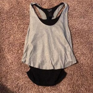 Bebe Layered Tank w/ built in Bra